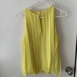 J Crew Yellow Pleated Top